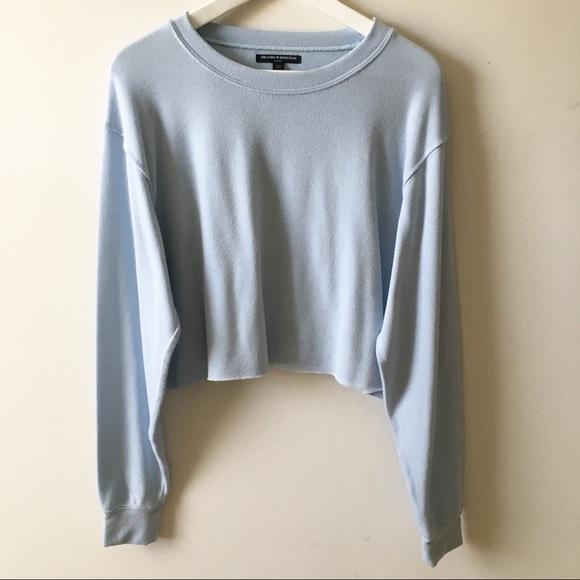 Brandy Melville Sweaters Light Blue Cropped Sweater Poshmark